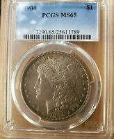 1904 SILVER DOLLAR PCGS MINT STATE 65 HARD TO FIND IN THIS GRADE AT ANY PRICE