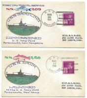 1941 USS GRAYLING CANCELS GOW NG CACHET SUBMARINE COMMISSION