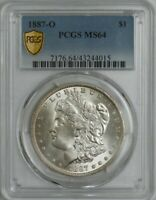 1887-O MORGAN SILVER DOLLAR $ MINT STATE 64 SECURE PCGS 944756-12