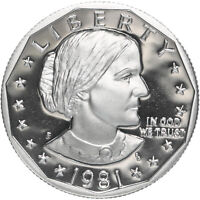 1981 S SUSAN B. ANTHONY DOLLAR TYPE 1 GEM DEEP CAMEO PROOF CN CLAD US COIN