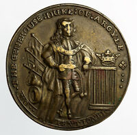 DUKE OF ARGYLE & ROBERT WALPOLE MEDAL IN BRONZE 1741 37MM   EIMER 561 32