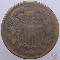 1869 TWO CENT GOOD GD