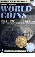 KATZ STANDARD CATALOG OF WORLD COINS KRAUSE 1601 1700 5H EDITION