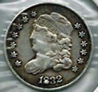 1832 HALF DIME   PLUGGED 8 VARIETY   LOTS OF REMAINING DETAILS