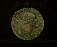 PAPAL STATE   QUATTRINO CLEMENT XII  1730 40    VF
