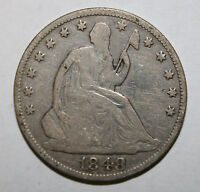 1848 O SEATED SILVER HALF DOLLAR  F6