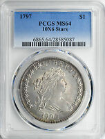 1797 BUST S$1 PCGS MS 64