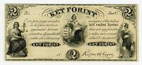 1800'S $2 KET FORINT   NEW YORK HUNGARIAN NOTE AU