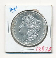 1887-S MORGAN SILVER DOLLAR CHOICE BU PROOFLIKE DETAIL
