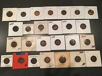INDIAN HEAD CENT PENNY COLLECTION SET LOT 26 COINS 1864 1867 1873 1874 1875