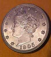 1905 LIBERTY NICKEL GEM UNCIRCULATED RADIAL MOLTEN LEAD COLOR MAKE OFFER