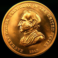 1849 PRESIDENT ZACHARY TAYLOR PEACE & FRIENDSHIP MEDALLION     UNCIRCULATED