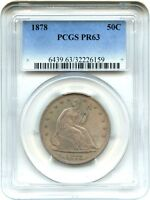 1878 50C PCGS PR 63   LIBERTY SEATED HALF DOLLAR