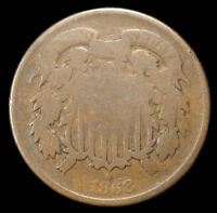 1868 TWO CENT PIECE  PROBLEM FREE TC12