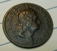 HIGH GRADE IRELAND GEORGE 1ST 1723 COPPER FARTHING  'WOODS