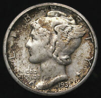 1931 D US SILVER MERCURY DIME XF NICE COIN FREE MULT SHIPPING K 1758