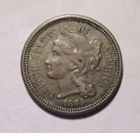 1865 THREE CENT NICKLE  ABO36