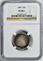 1889 LIBERTY SEATED 25C NGC PR 68