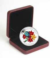 2013 CANADA $20 HOLIDAY VENETIAN GLASS CANDY CANE FINE SILVER COIN