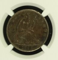 1850 O NGC AU DETAILS REV SCRATCHED SEATED LIBERTY HALF DOLLAR 50C