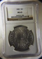 1885-P MORGAN SILVER DOLLAR - NGC MINT STATE 65 SUPER CD VAM-4A -