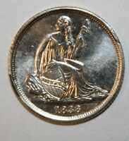 1838 O SEATED LIBERTY SILVER DIME S2