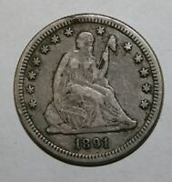 1891 S SEATED SILVER QUARTER P81
