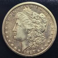 1887 S MORGAN SILVER DOLLAR DECENT   WITH SOME LUSTRE