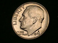 PROOF 1970 S ROOSEVELT DIME BEAUTIFUL SHARP COIN
