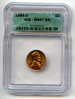 DATE 1964 D LINCOLN CENT ICG GRADED MS67RD