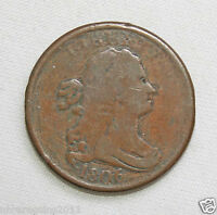1806  DRAPED BUST 1/2 CENT VG CONDITION