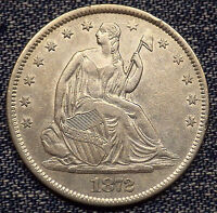 1872 S SEATED LIBERTY HALF DOLLAR MS COIN