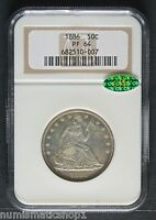 1886 SEATED LIBERTY HALF 50DOLLAR NGC PF64  CAC MIRROR LIKE FIELDS
