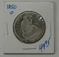 1850 O   LIBERTY SEATED HALF DOLLAR