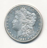 1887-S MORGAN SILVER DOLLAR CHOICE BU