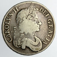 CHARLES II CROWN 1676 V OCTAVO   SPINK 3358 470