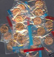 1984 P&D THRU 1989 P&D LINCOLN CENTS  IN MINT CELLO