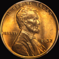 1932 LINCOLN CENT PCGS MS 66 RED