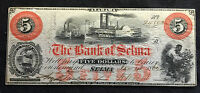 $5 1862 THE BANK OF SELMA ALABAMA OBSOLETE NOTE