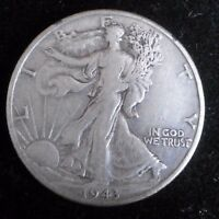 1943 D WALKING LIBERTY HALF DOLLAR  90 SILVER COIN  872