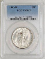 1943-D WALKING LIBERTY HALF 50C MINT STATE 65 PCGS