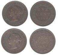 1884 AND 1897 CANADIAN LARGE CENT