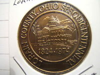 LORRIN COUNTY SESQUICENTENNIAL 1824   1974 OHIO MEDAL COURTHOUSE BRONZE MEDAL
