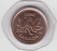 2006 P CANADA 1 CENT MAGNETIC UNC FROM MINT SET