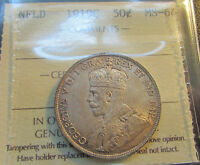 Click now to see the BUY IT NOW Price! NEWFOUNDLAND 1919 C  50 CENTS NEAR GEM ICCS MS 64