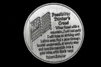 ROBERT SCHULLER   POSSIBILITY THINKER'S CREED IN GOD WE TRUST 1776 1976 MEDAL