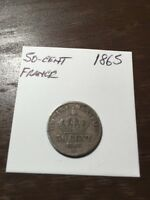 1865 FRANCE 50 CENTS
