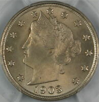 1903 LIBERTY NICKEL COIN, PCGS MINT STATE 64