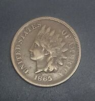 US INDIAN HEAD CENT  1865  COLLECTOR COIN ORIGINAL