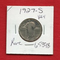 1927 S STANDING LIBERTY SILVER QUARTER DOLLAR 65398 US MINT  KEY DATE ESTATE